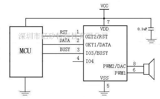 单片机语音芯片电路